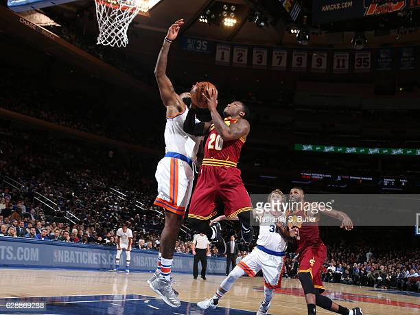 Kay Felder of the Cleveland Cavaliers goes to the basket during the game against the New York Knicks on December 7 2016 at Madison Square Garden in...
