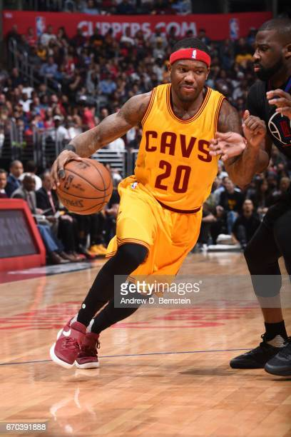 Kay Felder of the Cleveland Cavaliers handles the ball against the LA Clippers on March 18 2017 at STAPLES Center in Los Angeles California NOTE TO...