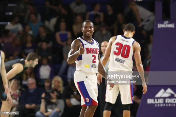 Kay Felder of the Grand Rapids Drive during the game against the Greensboro Swarm during the NBA GLeague on February 23 2018 in Greensboro North...