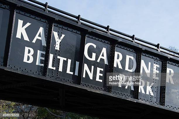 Kay Gardner Beltline Park entrance sign The Beltline trail is a cycling and walking rail trail in Toronto mostly enjoyed in spring season