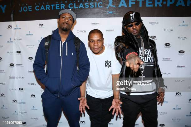 DJ Kay Gee Rapper Vin Rock and Rapper Treach of Naughty By Nature attend the 10th Annual Joe Carter Classic After Party at REBEL on June 20 2019 in...