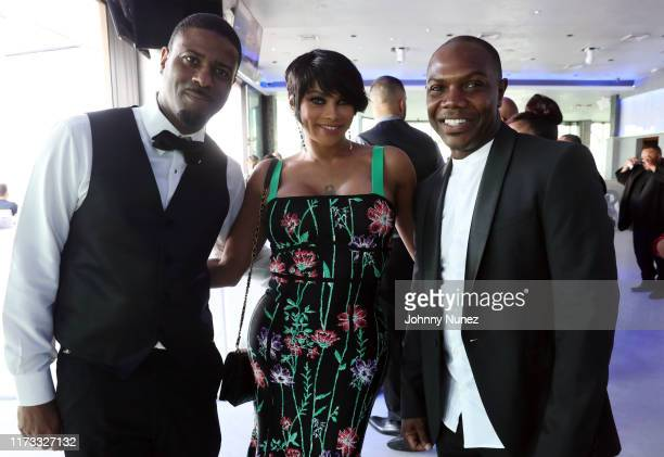 DJ Kay Gee Sandra Pepa Denton and Karriem Kmack Mack attend the Treach Cicely Evans Wedding at Waterside Reception Hall on September 08 2019 in North...
