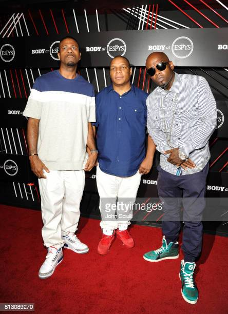 Kay Gee Vin Rock and Treach of Naughty by Nature at BODY at ESPYS at Avalon on July 11 2017 in Hollywood California