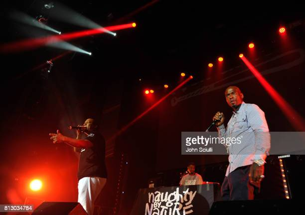 Kay Gee Vin Rock and Treach of Naughty by Nature perform onstage at BODY at ESPYS at Avalon on July 11 2017 in Hollywood California