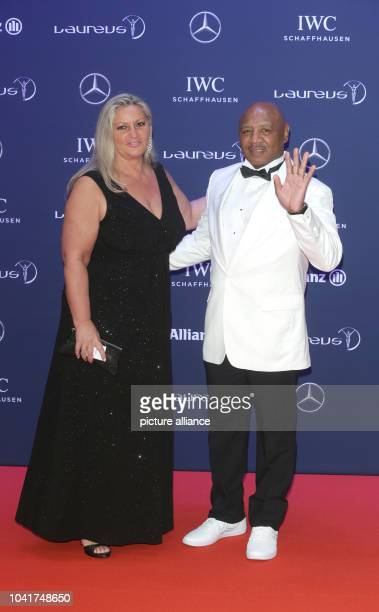 Kay Guarrera and her husband former boxer Marvin Hagler arrive to the Laureus Sport Awards in Berlin Germany 18 April 2016 The awards were presented...