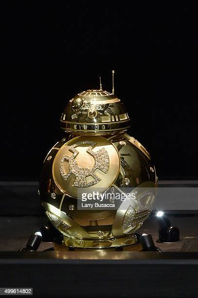 """Kay Jeweler's custom BB8 on display for the """"Force 4 Fashion"""" Event on Dec 2 at the Skylight Modern in NYC Top designers showcased bespoke looks..."""