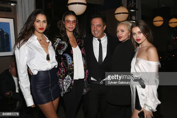 Kay Kay Matmonet Bodine Koehler Antoine Verglas Veronika Dash and Lexi Wood attend Lizzie Jonathan Tisch with Kelly Ripa Mark Consuelos Celebrate...