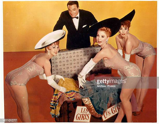 Kay Kendall Gene Kelly Mitzi Gaynor and Taina Elg in publicity portrait for the film 'Les Girls' 1957