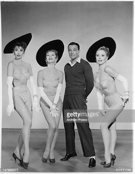 Kay Kendall Taina Elg Gene Kelly and Mitzi Gaynor publicity portrait for the film 'Les Girls' 1957