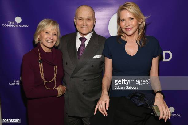 Kay Koplovitz Raymond Kelly and Patricia Duff attend Trump Year One Presidential Panel on January 17 2018 in New York City