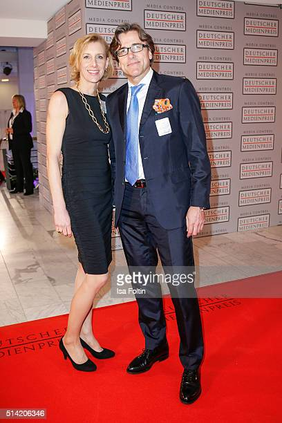 Kay Labinsky and guest attend the German Media Award 2016 on March 07 2016 in BadenBaden Germany