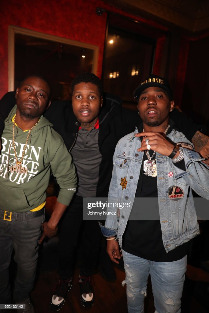 YFN Kay, Lil Durk, and YFN Lucci backstage at Irving Plaza
