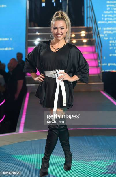 Kay Lovelle enters the Big Brother house at Elstree Studios on September 14 2018 in Borehamwood England