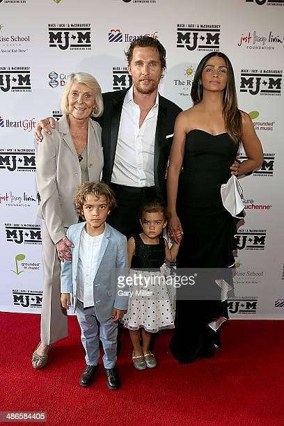 Kay McConaughey, Levi McConaughey, Matthew McConaughey, Vida McConaughey and Camila Alves walk the red carpet during the Mack, Jack & McConaughey...