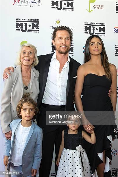 Kay McConaughey Levi McConaughey Matthew McConaughey Vida McConaughey and Camila Alves walk the red carpet during the Mack Jack McConaughey Gala at...