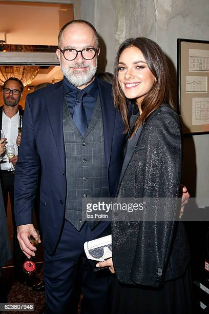 Kay Niehaus Business Director Value Retail and german actress Janina Uhse attend New Faces Award Style on November 16 2016 in Berlin Germany