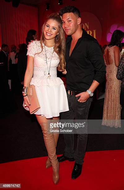 Kay one and his girlfriend Victoria Swarovski during the Mon Cheri Barbara Tag 2014 at Haus der Kunst on December 4 2014 in Munich Germany
