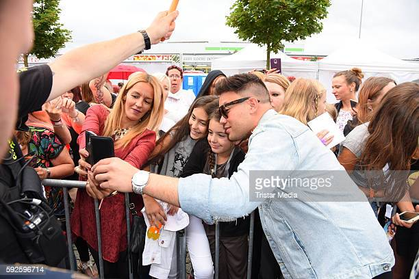 Kay One attends the Kinderhospiz Charity Open Air at Helvetiaparc on August 20 2016 in GrossGerau Germany