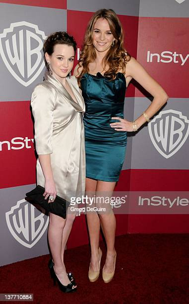 Kay Panabaker and Danielle Panabaker arrive sat the 12th Annual Warner Bros and Instyle PostGolden Globe Party at the Beverly Hilton Hotel on January...