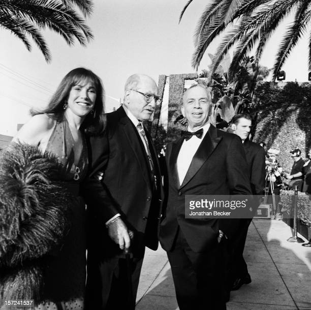 Kay Pick composer Artie Shaw and chairman and CEO of Advance Publications SI Newhouse Jr are photographed for Vanity Fair Magazine on March 21 1999...