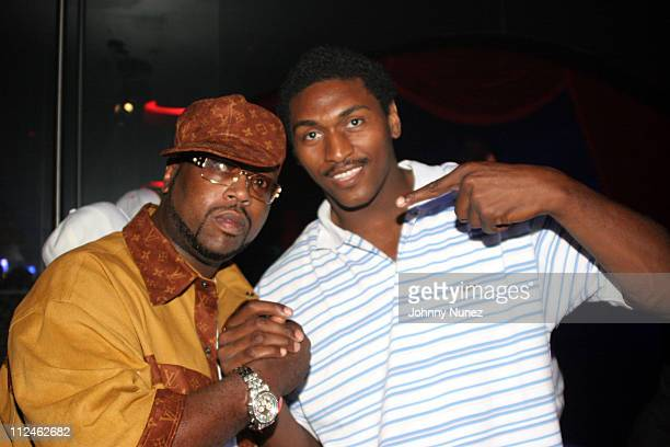 DJ Kay Slay and Ron Artest during DJ Kay Slay Birthday Smash Out Hosted by Buffie the Body at The Players Club in New York New York United States