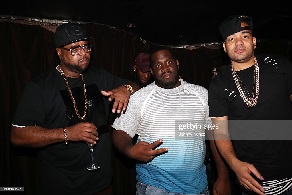 DJ Kay Slay, DJ Spazo, and DJ Envy attend The Game