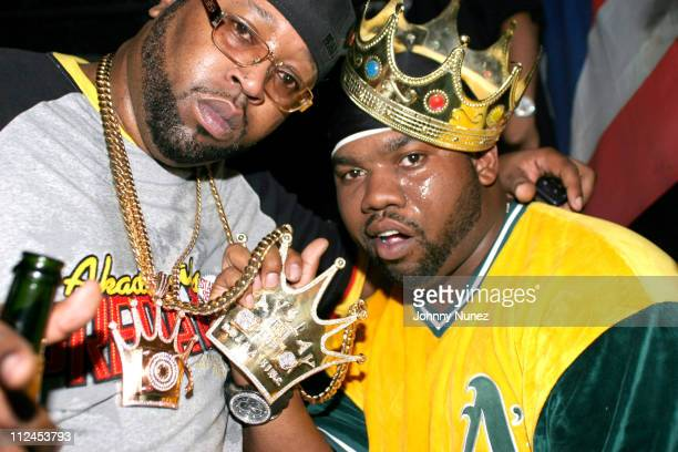 DJ Kay Slay The Drama King and Raekwon The Chef during DJ Kay Slay's Birthday Party at The Golden Lady in Bronx New York United States