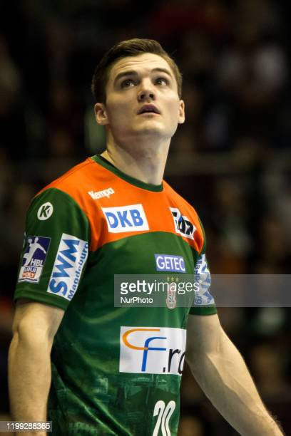 Kay Smits of SC Magdeburg during the LIQUI MOLY HBL between SC Magdeburg and TSV Hannover-Burgdorf at the GETEC-Arena on February 06, 2020 in...