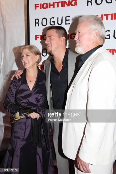 Kay Tatum Channing Tatum and Glenn Tatum attend FIGHTING premiere at REGAL UNION SQUARE STADIUM 14 on April 20 2009 in New York City