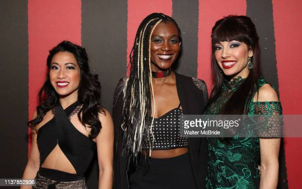 Kay Trinadad, Jewelle Blackman and Yvette Gonzalez-Nacer attend Broadway Opening Night After Party for 'Hadestown' at Guastavino's on April 17, 2019...