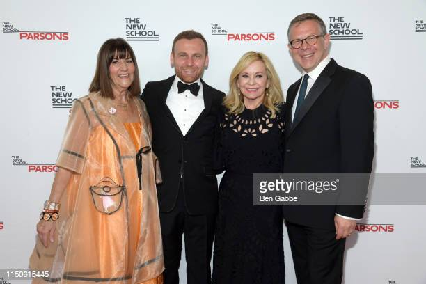 Kay Unger, Burak Cakmak, Julie Wainwright, and Executive Dean of Parsons School of Design Joel Towers attends the 71st Annual Parsons Benefit...