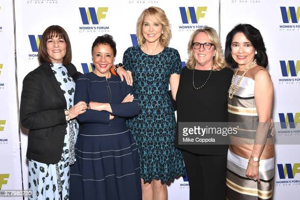 Kay Unger Sheila Johnson Paula Zahn Deirdre Quinn and Joyce F Brown attend the 8th Annual Elly Awards hosted by the Women's Forum of New York at The...