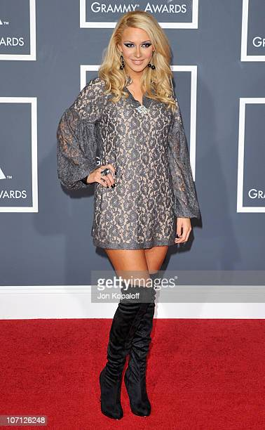 Kaya Jones arrives at the 52nd Annual GRAMMY Awards held at Staples Center on January 31 2010 in Los Angeles California