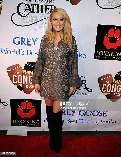 Kaya Jones arrives at The Conga Room at LA Live on January 31 2010 in Los Angeles California