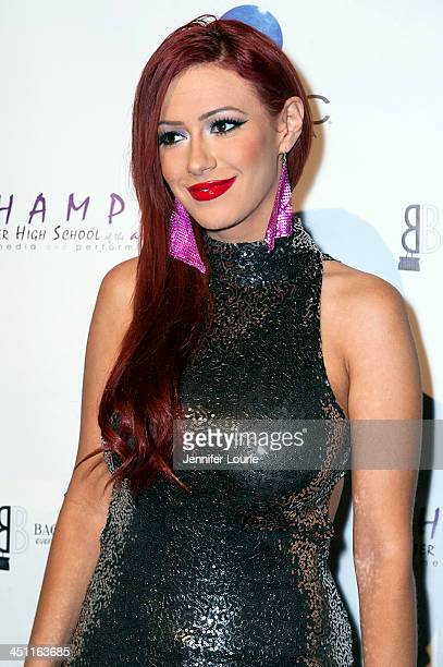 Kaya Jones arrives to the 'Bags To Benefit' Charity Evening For CHAMPS High School Of The Arts at Tru Hollywood on November 19 2013 in Hollywood...