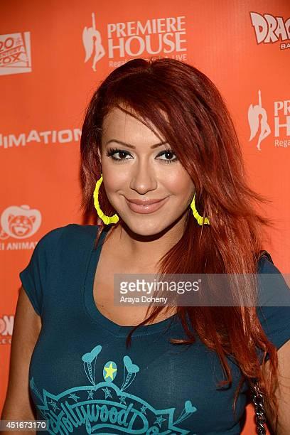 Kaya Jones attends the 'Dragon Ball Z Battle Of Gods' Los Angeles premiere at Regal Cinemas LA Live on July 3 2014 in Los Angeles California