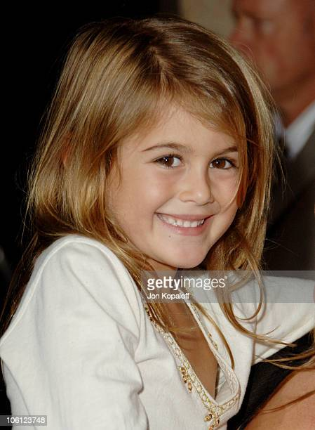 Kaya Jordan Gerber Cindy Crawford's daughter during Runway For Life Benefiting St Jude Children's Research Hospital Arrivals at Beverly Hilton in...