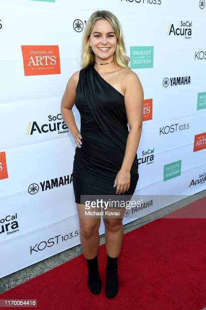 Kaya McKenna Callahan arrives at the 2019 Festival of Arts Celebrity Benefit Event on August 24 2019 in Laguna Beach California