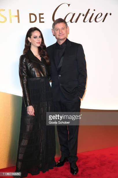 Kaya Scodelario and Cyrille Vigneron CEO Cartier during the Clash de Cartier event at la Conciergerie on April 10 2019 in Paris France