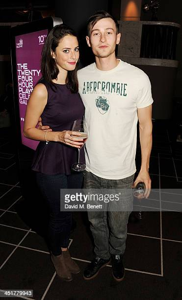 Kaya Scodelario and Elliott Tittensor attend The Old Vic's 24 Hour Celebrity Gala after party at Rosewood London on November 24 2013 in London United...