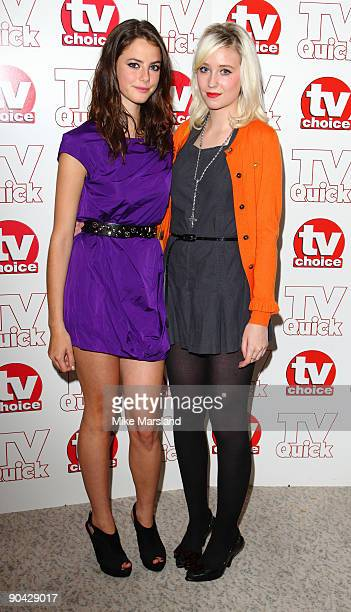Kaya Scodelario and Lily Loveless attend the TV Quick Tv Choice Awards at The Dorchester on September 7 2009 in London England