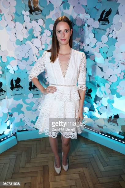 Kaya Scodelario attends as Tiffany Co celebrates the launch of the Tiffany Paper Flower collection at The Lindley Hall on June 21 2018 in London...