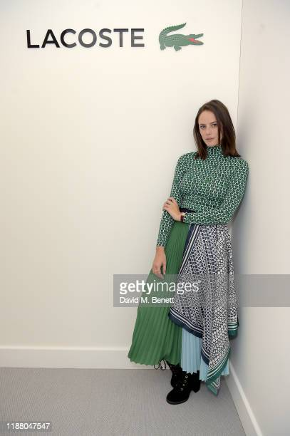 Kaya Scodelario attends the Lacoste VIP Lounge at the 2019 ATP World Tour Tennis Finals on November 16 2019 in London England