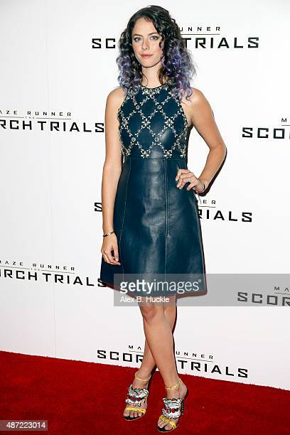 Kaya Scodelario attends the Maze Runner The Scorch Trials UK Fan Event on September 7 2015 in London England