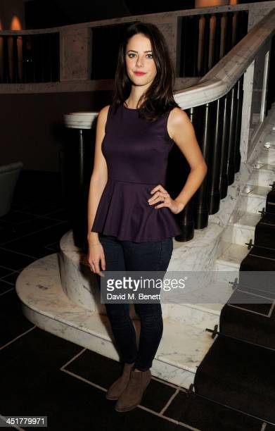 Kaya Scodelario attends The Old Vic's 24 Hour Celebrity Gala after party at Rosewood London on November 24 2013 in London United Kingdom