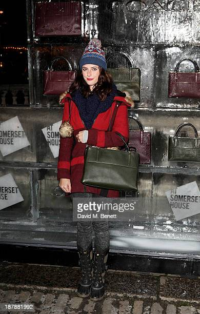 Kaya Scodelario attends the VIP launch of 'Coach Presents Skate' at Somerset House on November 13 2013 in London England
