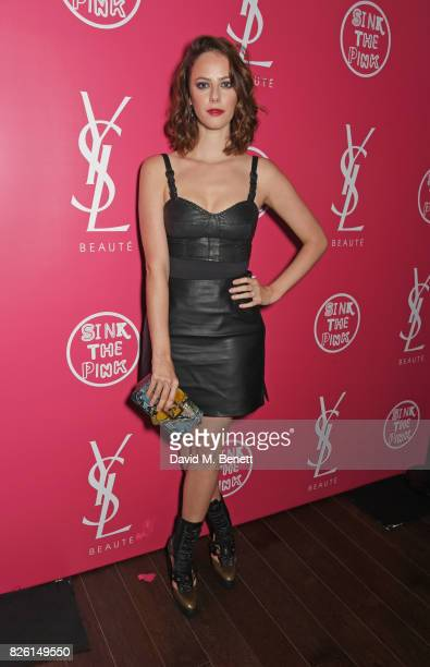 Kaya Scodelario attends the #YSLBeautyClub party in collaboration with Sink The Pink at The Curtain on August 3 2017 in London England