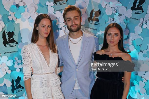 Kaya Scodelario Douglas Booth and Bel Powley attend as Tiffany Co celebrates the launch of the Tiffany Paper Flower collection at The Lindley Hall on...