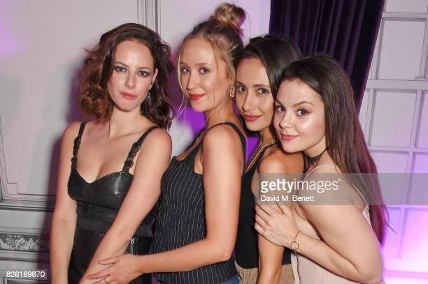 Kaya Scodelario Lily Loveless Klariza Clayton and Megan Prescott attend the #YSLBeautyClub party in collaboration with Sink The Pink at The Curtain...
