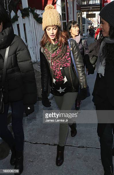 Kaya Scodelario seen on Main street on January 20 2013 in Park City Utah